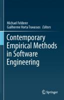 Contemporary Empirical Methods in Software Engineering [1st ed.]  9783030324889, 9783030324896
