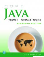 Core Java. Volume II - Advanced Features [2, 11ed.]  0135166314, 9780135166314