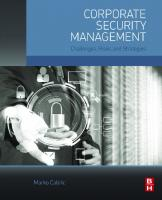 Corporate security management: challenges, risks, and strategies  9780128029343, 012802934X