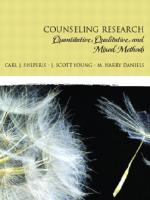 Counseling research: quantitative, qualitative, and mixed methods [1st ed]