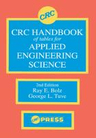 CRC Handbook of Tables for Applied Engineering Science [2 ed.]