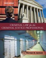 Criminal Law for the Criminal Justice Professional [3ed.]  0077433769, 9780077433765