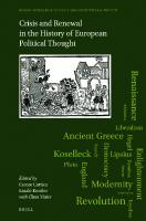 Crisis and Renewal in the History of European Political Thought  9004466096, 9789004466098