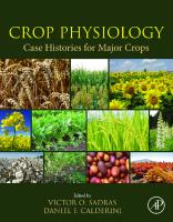 Crop Physiology - Case Histories for Major Crops [First Edition]  9780128191941