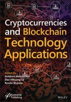Cryptocurrencies and Blockchain Technology Applications  111962116X, 9781119621164