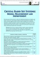 Crystal Radio and Crystal Set Systems