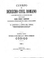 Cuerpo Del Derecho Civil Romano