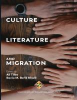 Culture, Literature and Migration  9781912997282