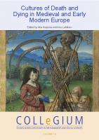 Cultures of Death and Dying in Medieval and Early Modern Europe