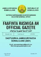 Dastuurka Jamhuuriyadda Somaliland (2001)