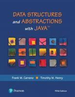 Data Structures and Abstractions with Java [5th Edition]