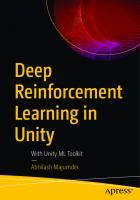 Deep Reinforcement Learning in Unity: With Unity ML Toolkit [1ed.]  1484265025, 9781484265024