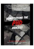 Demystifying the Phd process
