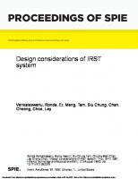 Design Considerations of IRST System