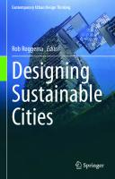 Designing Sustainable Cities [1st ed.]  9783030546854, 9783030546861