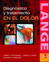 Diagnostico y tratamiento en el dolor