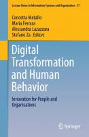 Digital Transformation and Human Behavior: Innovation for People and Organisations [1st ed.]  9783030475383, 9783030475390