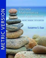 Discrete Mathematics with Applications, Metric Version [5ed.]  9780357114087