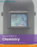 Edexcel GCSE (9-1) Chemistry (Edexcel (9-1) GCSE Science 2016) [1ed.]  1292120215, 9781292120218