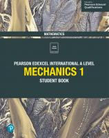 Edexcel International A Level Mathematics Mechanics 1 Student Book: Student Book [1ed.]  1292244674, 9781292244679