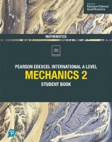 Edexcel International A Level Mathematics Mechanics 2 Student Book: Student Book [1ed.]  1292244763, 9781292244761