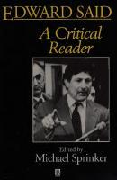 Edward Said: A Critical Reader  9781557862280