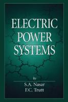Electric Power Systems  9781351453622, 1351453629, 0-8493-1666-9