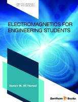 Electromagnetics for Engineering Students  9781681085043, 9781681085050