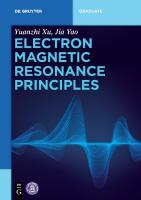Electron Magnetic Resonance Principles [1 ed.]