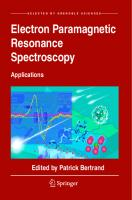 Electron Paramagnetic Resonance Spectroscopy: Applications [1 ed.]