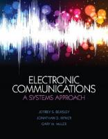 Electronic communications : a systems approach  9780132988636, 0132988631