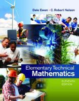 Elementary technical mathematics [Eleventh edition.]  9781285199191, 1285199197