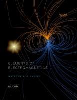 Elements of Electromagnetics [7ed.]  9780190698614