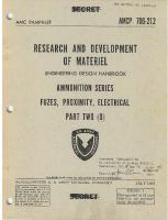 Engineering Design Handbook - Ammunition Series, Fuzes, Proximity, Electrical, Part 2