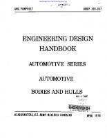 Engineering Design Handbook - Automotive Series, Automotive Bodies and Hulls