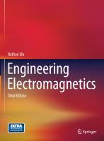 Engineering Electromagnetics [3ed.]  9783319078069, 3319078062