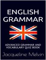 English Grammar: Advanced grammar and vocabulary quiz book