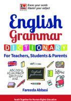 English Grammar Dictionary  9780993261527
