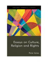 Essays on Culture, Religion and Rights  9781786615671