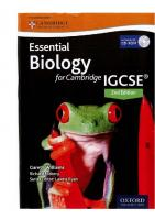 Essential Biology for Cambridge IGCSE® 2nd Edition