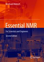 Essential NMR: For Scientists and Engineers [2nd Edition]  9783030107031, 3030107035
