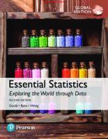 Essential Statistics, Global Edition [2nd ed.]  9781292161280, 1292161280