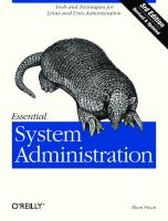 Essential System Administration [3rd edition]  0596003439, 9780596003432