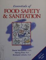 Essentials of food safety and sanitation  9780130648440