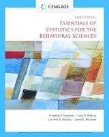 Essentials of Statistics for the Behavioral Sciences (MindTap Course List) [10ed.]  0357365291, 9780357365298