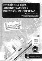 Estadistica Para Administracion Y Direccion De Empresas