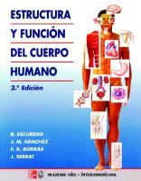 Estructura y Función del Cuerpo Humano [2 ed.]  9788448604684, 8448604687