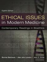 Ethical Issues in Modern Medicine: Contemporary Readings in Bioethics [8th Edition]  0073535869, 9780073535869