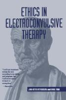 Ethics in Electroconvulsive Therapy  041594659X, 9780415946599