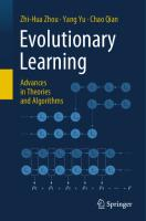 Evolutionary Learning. Advances in Theories and Algorithms